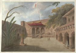 Courtyard of a temple at Brindaban